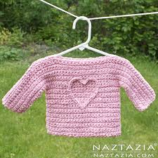 crochet t sweater for babies and children by donna wolfe from naztazia