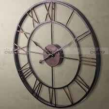 chic metal wall clock online india black dial quartz large metal