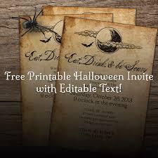 halloween invitations in pdf u2013 fun for halloween