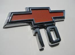 Classic Chevy Custom Trucks - 10 emblem from a 1968 chevrolet c10 pickup vintage auto