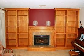 cherry wood bookcase with glass doors u2014 doherty house