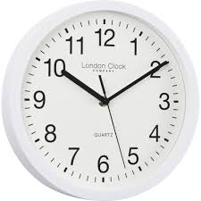 simple white sweeping wall clock 25 5cm