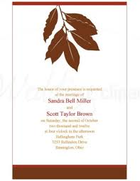 fall wedding programs printable autumn leaves wedding program template