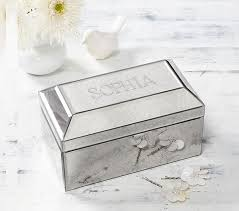 personalized photo jewelry box lhuillier mirrored jewelry box pottery barn kids