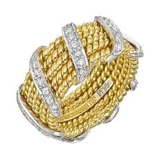 gold bands rings images Tiffany and co schlumberger diamond gold wrap band ring for sale jpg