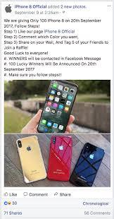 apple si e social finti concorsi sui social attenzione alla truffa dell iphone