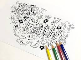 have faith coloring page coloring page art therapy