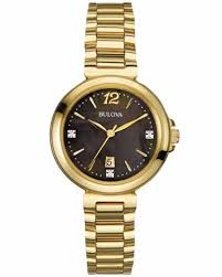 bulova ladies diamond bracelet watches images Bulova 97p107 ladies diamond gallery gold steel bracelet watch ebay jpg