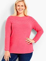 s plus size sweaters talbots