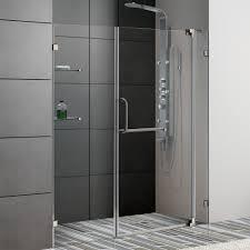 Tub Glass Doors Frameless by Vigo Vg6042bncl60 60 Inch Frameless Shower Door 3 8 Clear Glass