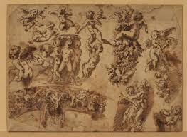 of studies of ornamental motifs by pietro da cortona 1596 1669 italy