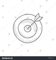 target board arrow vector sketch icon stock vector 433202695