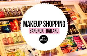 Make Up Di Bangkok makeup shopping guide bangkok