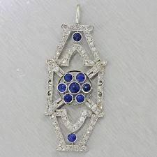 diamond sapphire necklace images Antique sapphire necklace ebay jpg