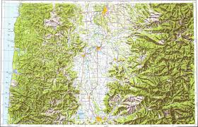 Salem Oregon Map by Download Topographic Map In Area Of Eugene Salem Corvallis