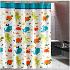 Extra Long Shower Curtain Kids Cartoon Funny Shower Curtains Sea Theme Extra Long Shower