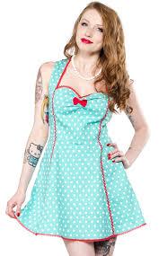 sourpuss polka dot lucille dress mint womens clothes