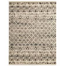 Home Area Rugs Home Decorators Collection Tribal Essence Ivory 9 Ft 3 In X 12
