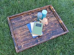 Wooden Serving Trays For Ottomans by Hand Made Wood Ottoman Tray Made From Reclaimed Pallet Wood