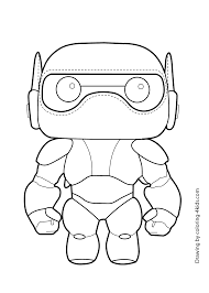 easy fun art animated film illustration big hero 6 coloring pages