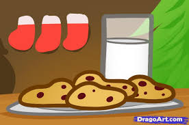 how to draw christmas cookies milk and cookies step by step