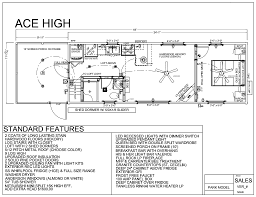 large log home floor plans 34 u0027 x 12 u0027 ace high w porch park model log cabin mountain