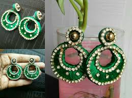 cardboard earrings silk thread chandbali earrings with cardboard base diy how to