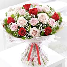 baby breath classical and bouquet with pink and roses and baby