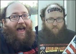 Old Man Tattoo Meme - fact check trump forehead tattoo