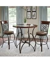 red pub table and chairs red pub table bistro sets bhg com shop