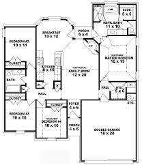 4 br house plans one 4 bedroom 2 bath traditional style house plan house