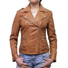 light brown leather jacket womens women tan leather biker jacket moss