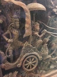 bali ramayana wood carving at 1stdibs