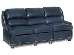 Blue Reclining Sofa by Hancock U0026 Moore Austin Traditional Full Recline Sofa With Nailhead