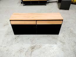 lowboard buche sideboard sideboards eiche nussbaum buche holz schwarz metall mit