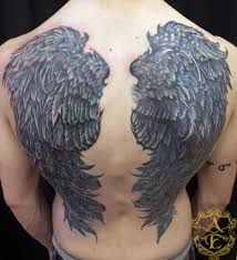 color ink wings 3d on back