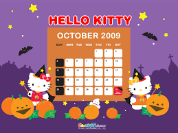 Halloween Kitty by Hello Kitty Halloween Desktop Wallpaper Wallpapersafari
