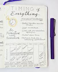 Bullet Journal Tips And Tricks by Time Blocking Get More Done With Less Stress Bullet Journaling