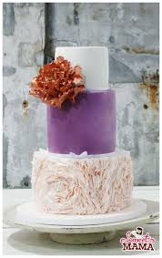 ruffles and rose gold peony wedding cake cake by soraya