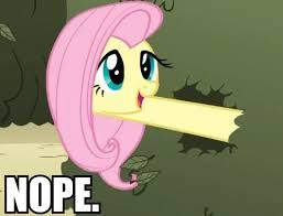 Nope Meme - 1182479 fluttershy long neck maze meme nope nope avi pony