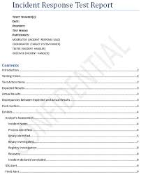Computer Security Incident Report Template by Security Incident Response Testing To Meet Audit Requirements