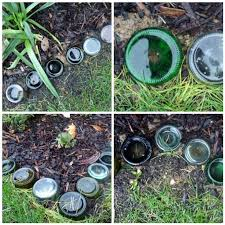 recycled glass bottle garden border charlotte hupfield ceramics