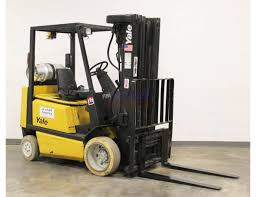 4 000 lb yale glc040rg quad mast cushion forklift st louis