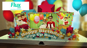 happy birthday book happy birthday pop up book after effects template