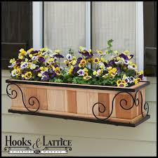 Redwood Planter Boxes by Iron And Wood Window Boxes Scroll Window Box Cage With Redwood Liner