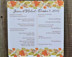 fall wedding programs fall leaves and tree personalized wedding programs 30 fall