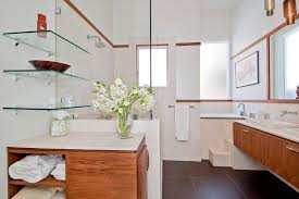 floating glass shelves bathroom contemporary with floating vanity