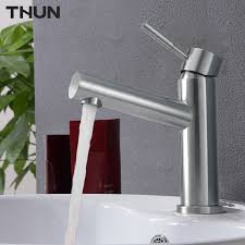 Stainless Steel Bathroom Faucets by Online Get Cheap Brushed Stainless Steel Bathroom Faucets