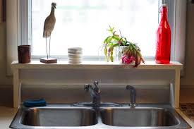 Kitchen Sink Shelves - making room at the kitchen sink just short of crazy