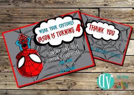 Free Spiderman Invitation Cards Spiderman Birthday Invitation Printable 5x7 Or 4x6 And Free